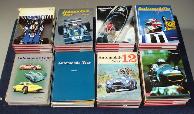 A run of Automobile Year annuals; volumes 4 to 38,