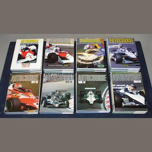A run of Autocourse annuals; 1976-1977 to 2000-2001,