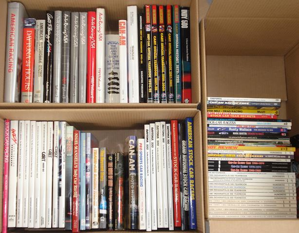A quantity of American motorsport books,