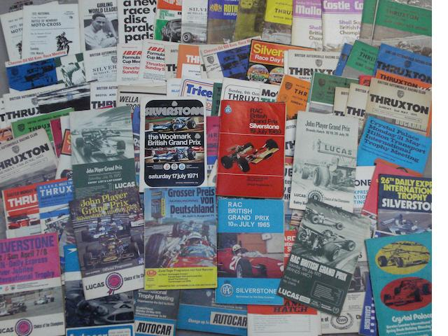 A quantity of British Grand Prix and International race programmes,