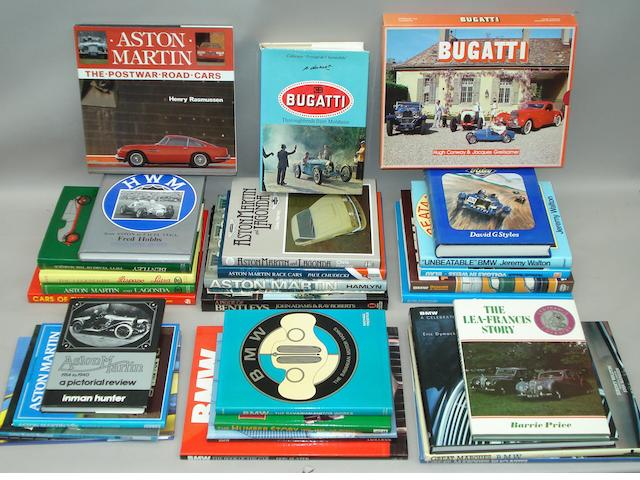 A good lot of books relating to prestige marques,