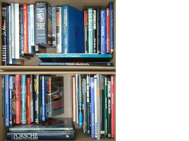 A good quantity of Porsche books,