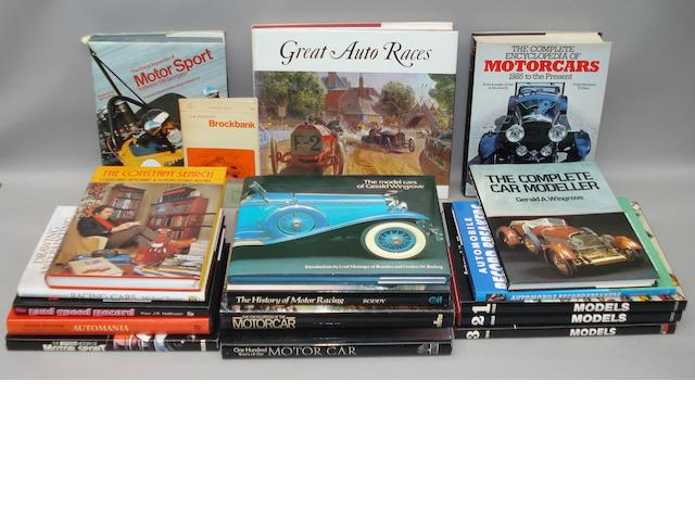 Assorted automobilia and motoring reference books,