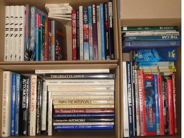 A lot of assorted motoring books,