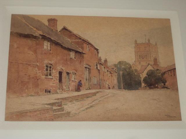 Gerald Ackermann, R.I (1876-1960) 'Red Houses Tewkesbury'