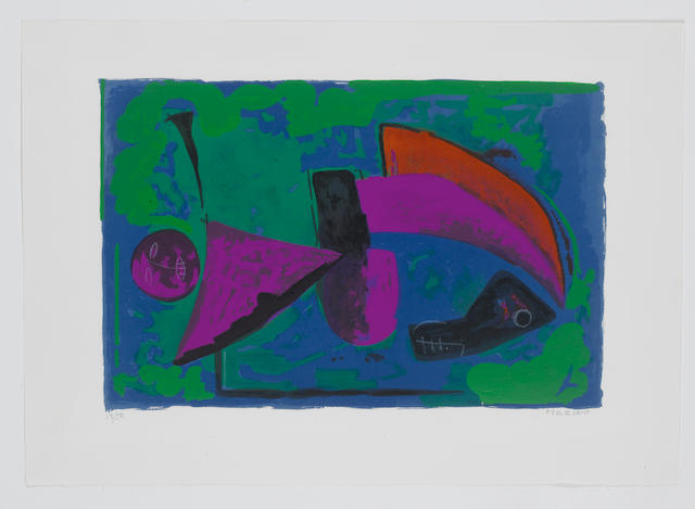Marino Marini (Italian, 1901-1980) Guerriero Lithograph printed in colours, on Arches, signed and numbered 13/50 in pencil, printed by Mourlot, Paris, published by Société Internationale d'Art XXe Siècle, Paris, 326 x 491mm (12 3/4 x 19 3/8 in) (I) (unframed)