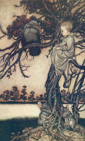 RACKHAM (ARTHUR) BARRIE (J.M.) Peter Pan in Kensington Gardens; IRVING (WASHINGTON) Rip Van Winkle, 1905; and two others (4)