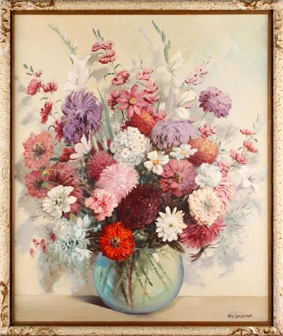 William Francis (Will) Longstaff (Australian, 1879-1953) Still life of a vase of flowers