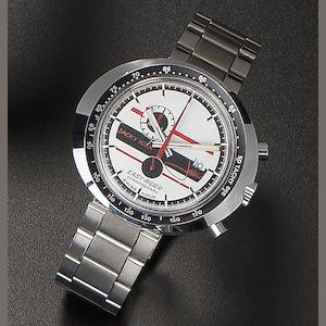 Heuer. A stainless steel manual wind chronograph wristwatch Jacky Ickx Easy Rider