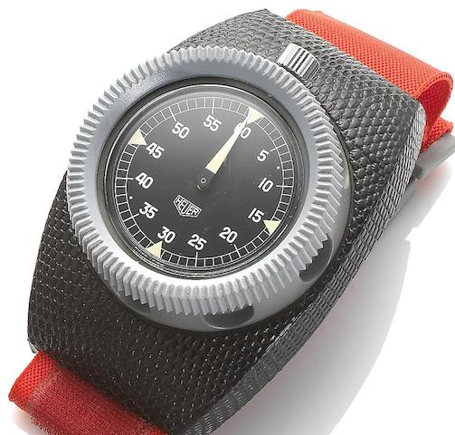 Heuer. A stopwatch with wriststrap Ref: 203 934