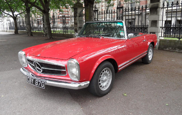 1968 Mercedes-Benz 280SL Convertible  Chassis no. 11304422004721 Engine no. 13098322002940