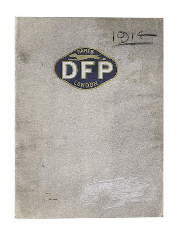 A Bentley & Bentley DFP Concessionaires sales brochure, 1914,