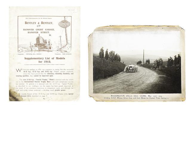 A Bentley & Bentley Ltd DFP Concessionaires sales brochure