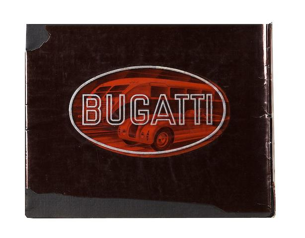 A Bugatti Type 57 sales brochure