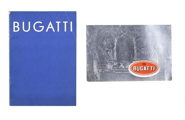 Two Bugatti brochures