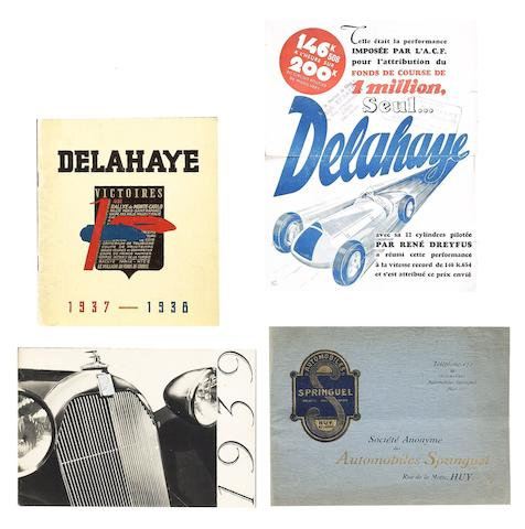 Four French motor manufacturers sales brochures,