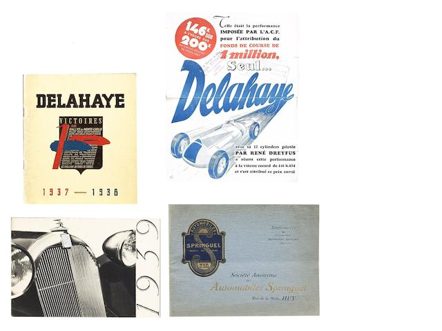 Four French motor manufacturers sales brochures