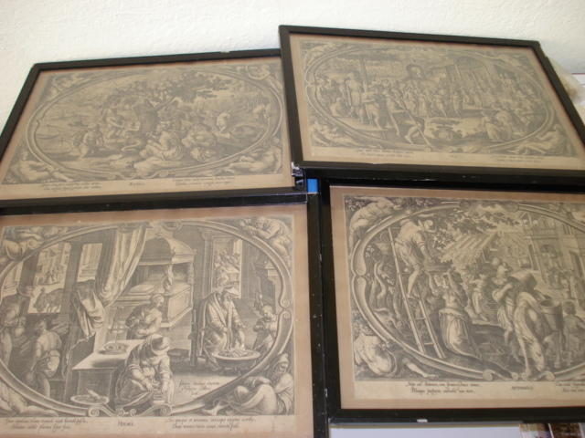Four seasons engravings Galle/Stradanus