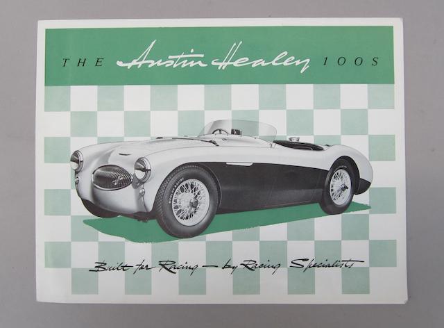 An Austin Healy 100S sales Brochure