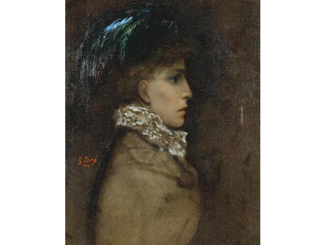 Gustave Doré  (French, 1832-1883) Sarah Bernhardt
