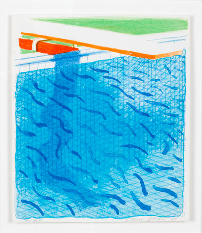David Hockney R.A. (British, born 1937) Paper Pools (MCA Tokyo 234) The book, 1980, containing title, text and justification pages, signed in red ink and numbered 311/1000 in pencil, published by Tyler Graphics Ltd, New York, with their blindtsmp, within the original boards and slipcase, 265 x 225mm (10 1/8 x 8 7/8in) (Vol)