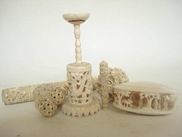 A collection of export ivory 19th century