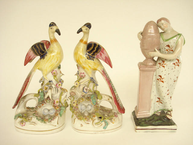 A pair of Staffordshire figures 19th century