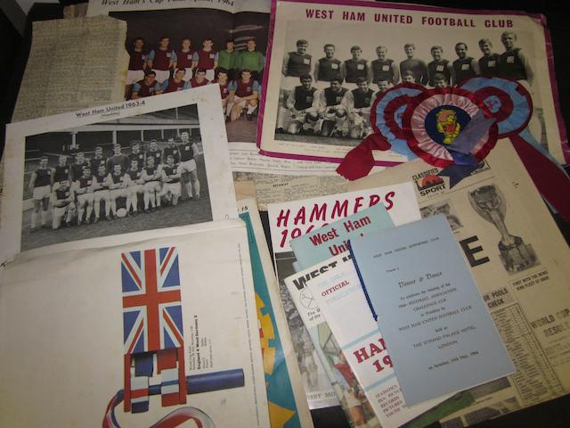 West Ham/England various football memorabilia
