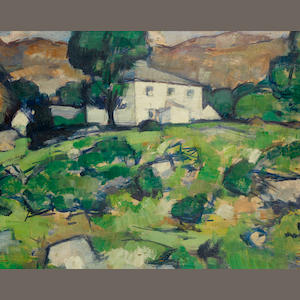 Samuel John Peploe, RSA (British, 1871-1935) The White Farm 32.5 x 40.7 cm. (12 3/4 x 16 in.)