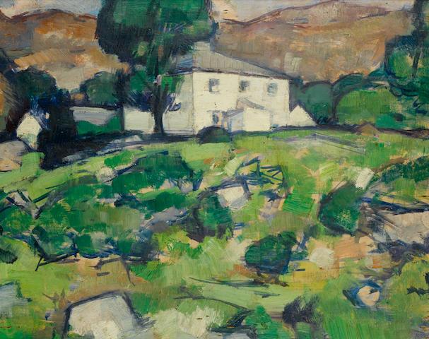 Samuel John Peploe, RSA (British, 1871-1935) The White Farm 32.5 x 40.7 cm. (12 3/4 x 16 in.)