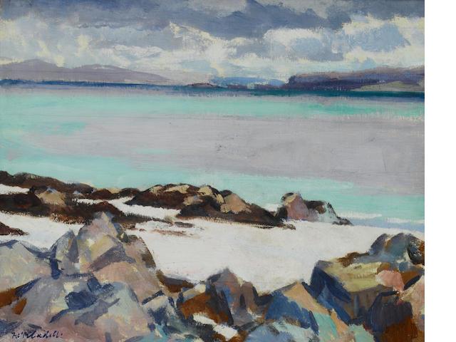 Francis Campbell Boileau Cadell, RSA RSW (British, 1883-1937) Iona 37 x 44.7 cm. (14 1/2 x 17 1/2 in.)