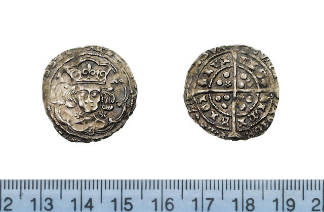Ireland, Edward IV, 1461-83, Light coinage (1473-78), Groat, 2.07g, Limerick mint (CIVITAS LIMIRICI), L on breast, cinquefoils by neck,