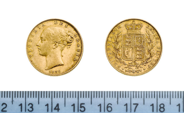 Victoria, Sovereign, 1838, first young head left,