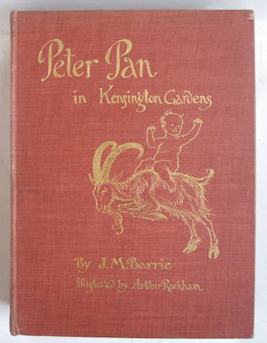 BARRIE (J.M.) Peter Pan in Kensington Gardens, plates by Rackham, 1906; and others by Barrie (16)