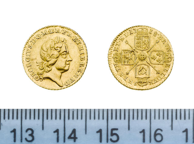 George I, 1714-27, Quarter-Guinea, 1718, laureate head right,