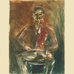 Wolf Kibel (Polish, 1903-1938) Seated gentleman