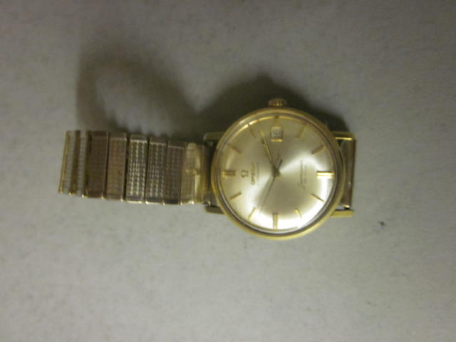 Omega: A gentleman's gold plated automatic Seamaster de Ville bracelet watch,
