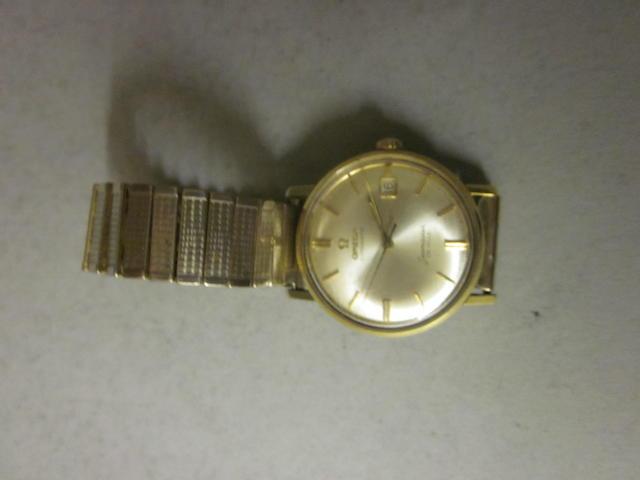 Omega: A gentleman's gold plated automatic Seamaster de Ville bracelet watch,