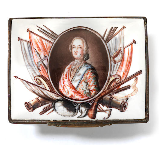 Snuff box, Jacobite portrait (restored)