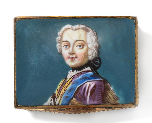 Portrait box, Frederick the Great? or Old Pretender?