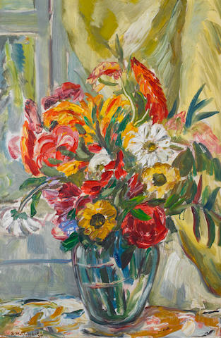 Sir William MacTaggart, PPRSA RA FRSE HonRSW LLD (British, 1903-1981) A Summer Bouquet 61 x 41.3 cm. (24 x 16 1/4 in.)