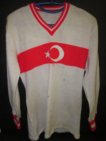 A match worn Turkey shirt