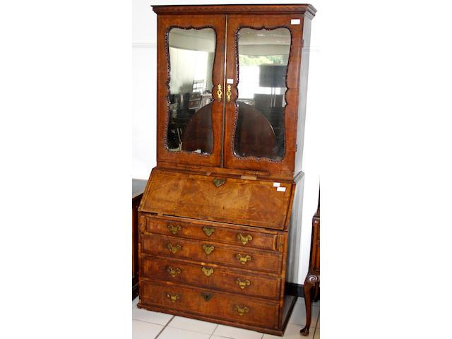 An early 18th Century walnut bureau,