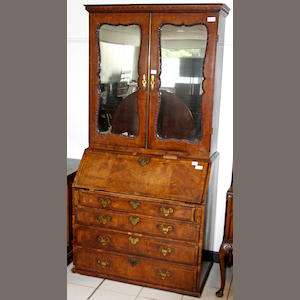 An early 18th Century walnut bureau,