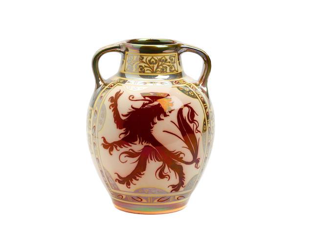 A Pilkington Royal Lancastrian lustre vase, Gordon M. Forsyth Circa 1910-15