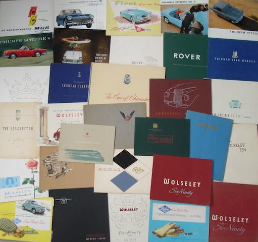 A good lot of sales catalogues for British marques,