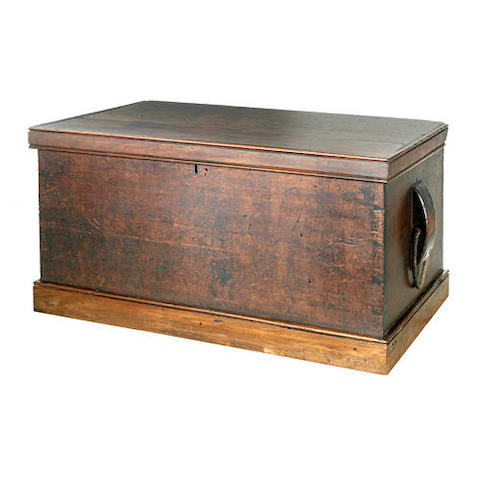 A 19th century Australian cedar seaman's chest