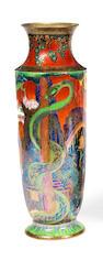 A Wedgwood Fairyland lustre slender baluster vase