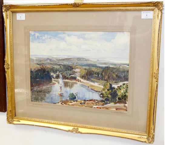 Samuel John Lamorna Birch (British, 1869-1955) The Park, Lancaster 29 x 39.5cm (11 1/2 x 15 1/2in)