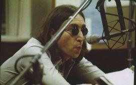 A collection of photographs of John Lennon at radio station WFIL, May 1975,